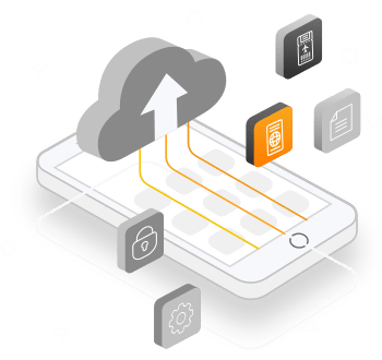 A mobile app showing online visa services