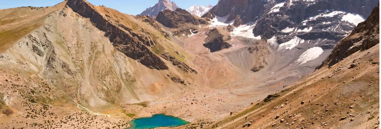 Landscape with kulikalon lakes in fann mountains