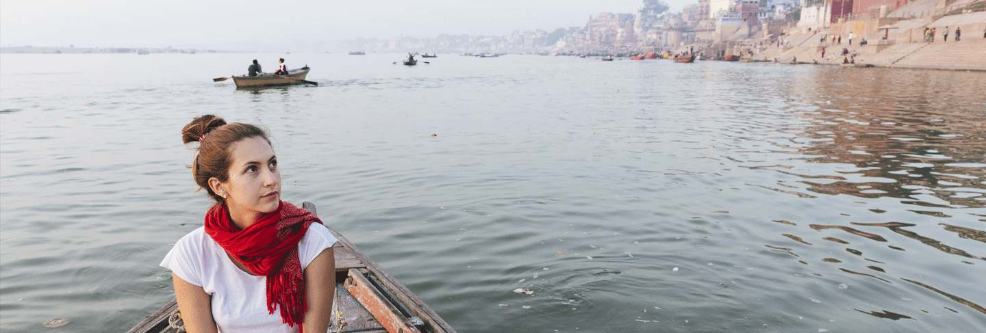 A Woman who met the indian visa requirements and therefore traveled to India