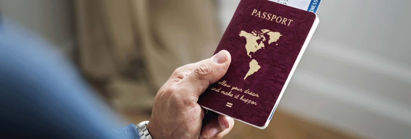 A person holding a passport contemplating what is a visa