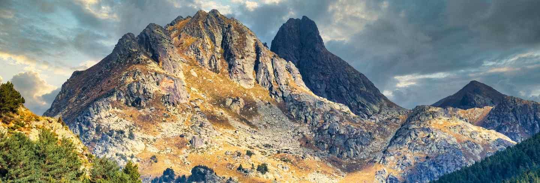 Beautiful mountain peaks in andorra (pyrenees)