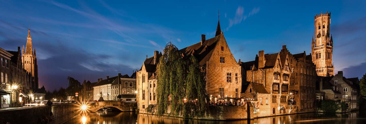 Bruges is a beautiful and characteristic town in flanders belgium