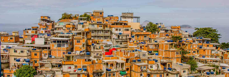 Landscape of the cantagalo favela