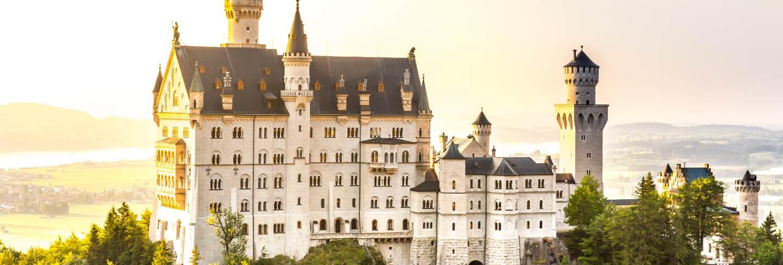 Neuschwanstein castle sunset