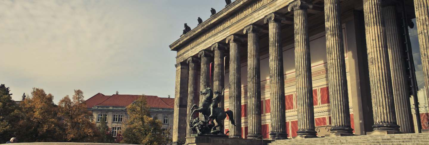 Beautiful shot of altes museum in berlin, germany