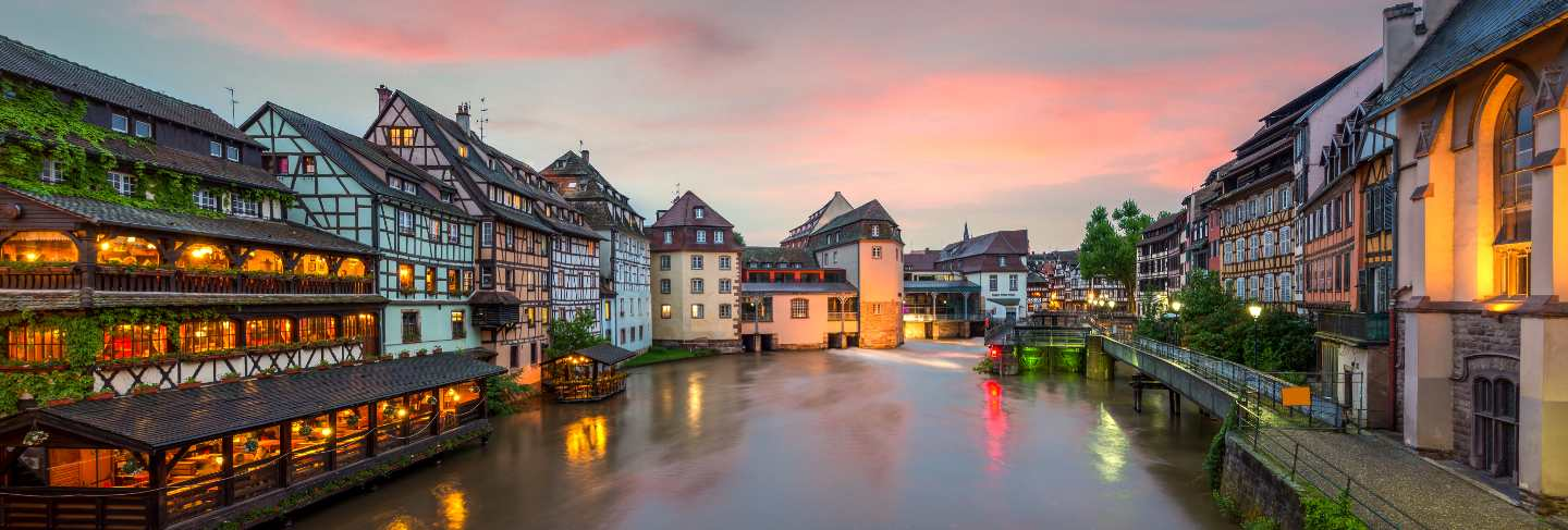 Quaint timbered houses of petite france in strasbourg, france
