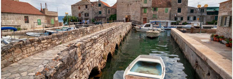 Kastel gomilica settlement of kastela in croatia