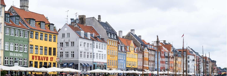 Nyhavn, copenhagen/denmark, very popular and famous for tourist tourism landmark in europe