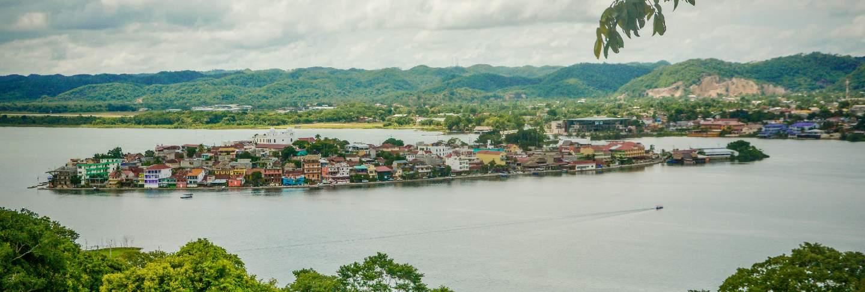 Peten island and lake, guatemala.
