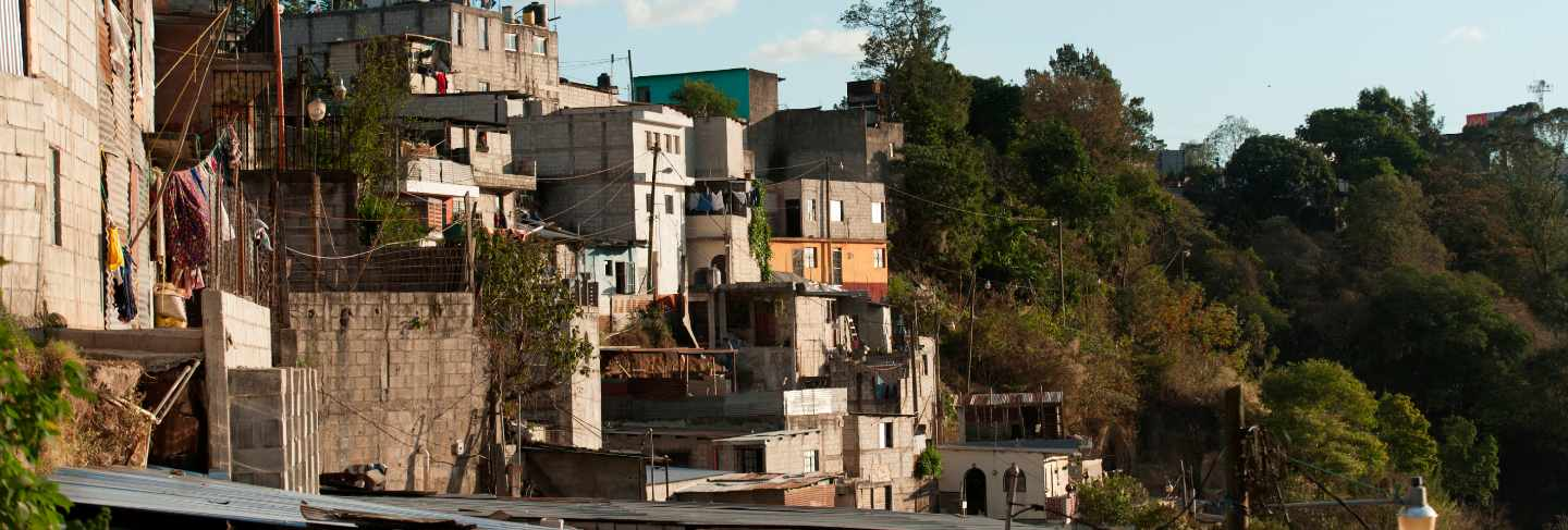 Houses on a hill, colonia bethania, guatemala city, guatemala