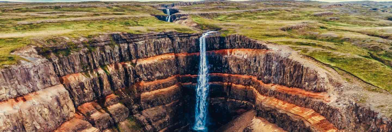The aldeyjarfoss waterfall in north iceland