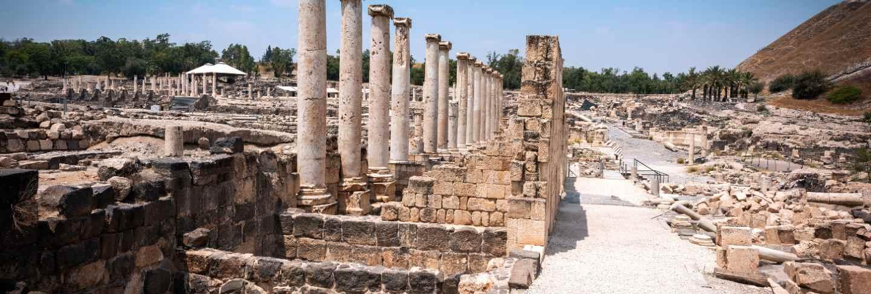Beit shean ruins in israel