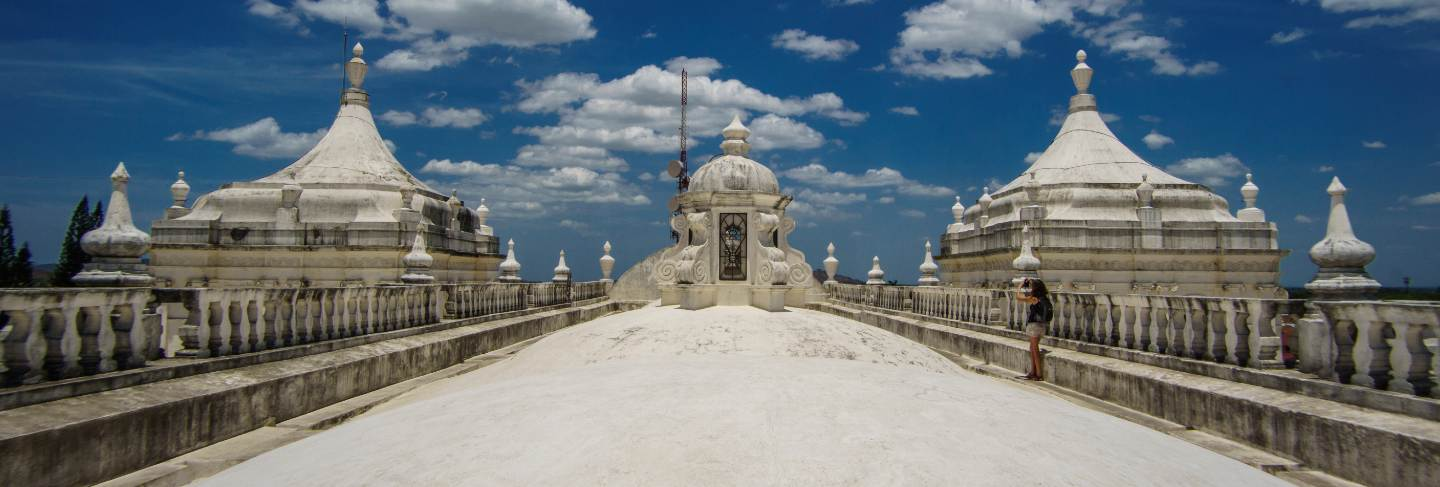 Panoramic view of the roof of leon cathedral, nicaragua