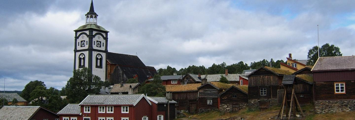 Homes houses town norway landscape sky village