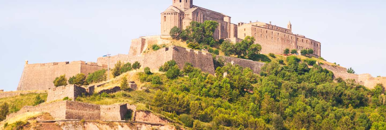 General view of castle of cardona. Catalonia