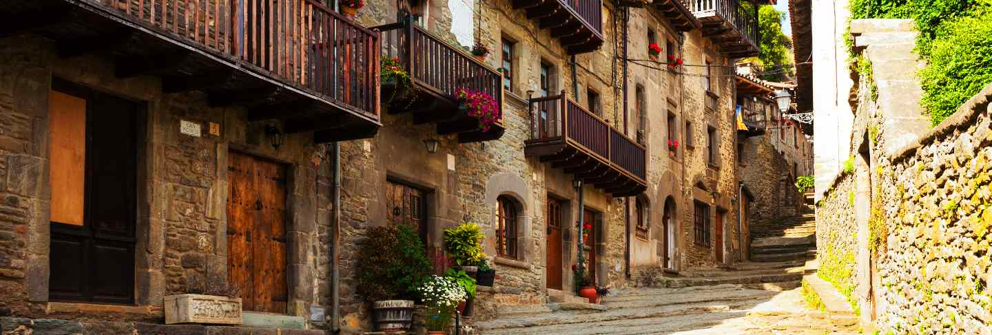 Picturesque view of old catalan village