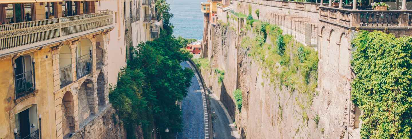 View of the street in sorrento, italy.