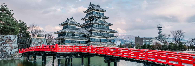 Matsumoto castle in osaka, japan