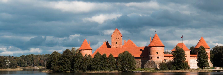 Island castle in trakai, lithuania