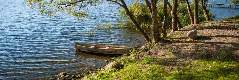 Beautiful lake in summer day