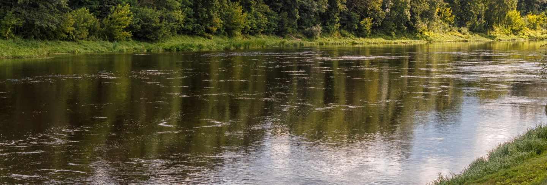 Embankment of the neman river
