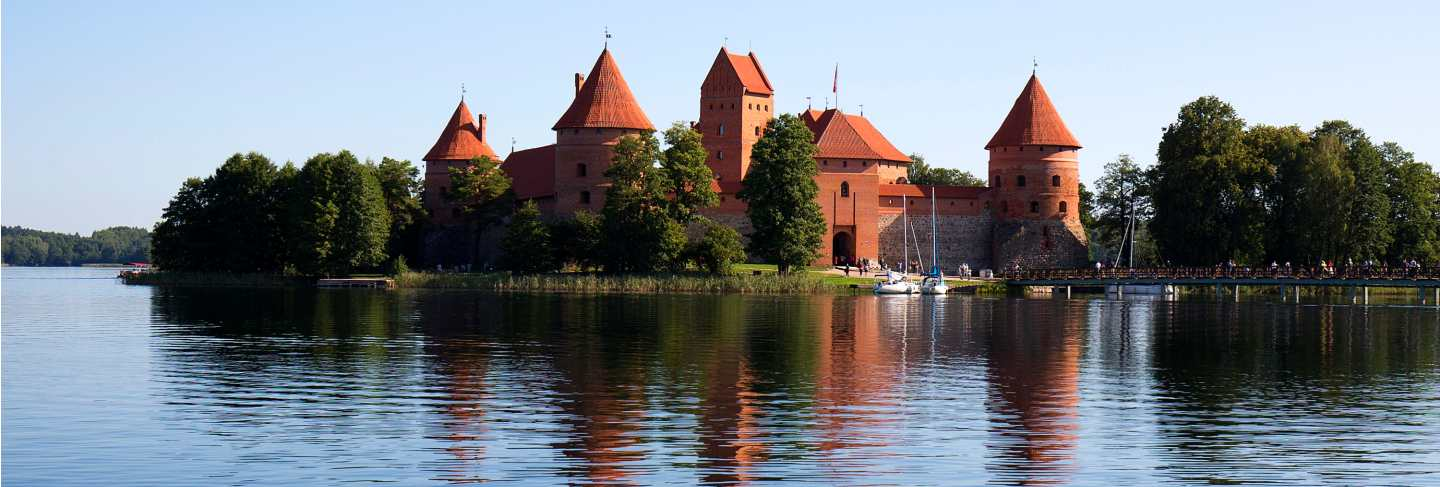 Trakai island castle in lithuania