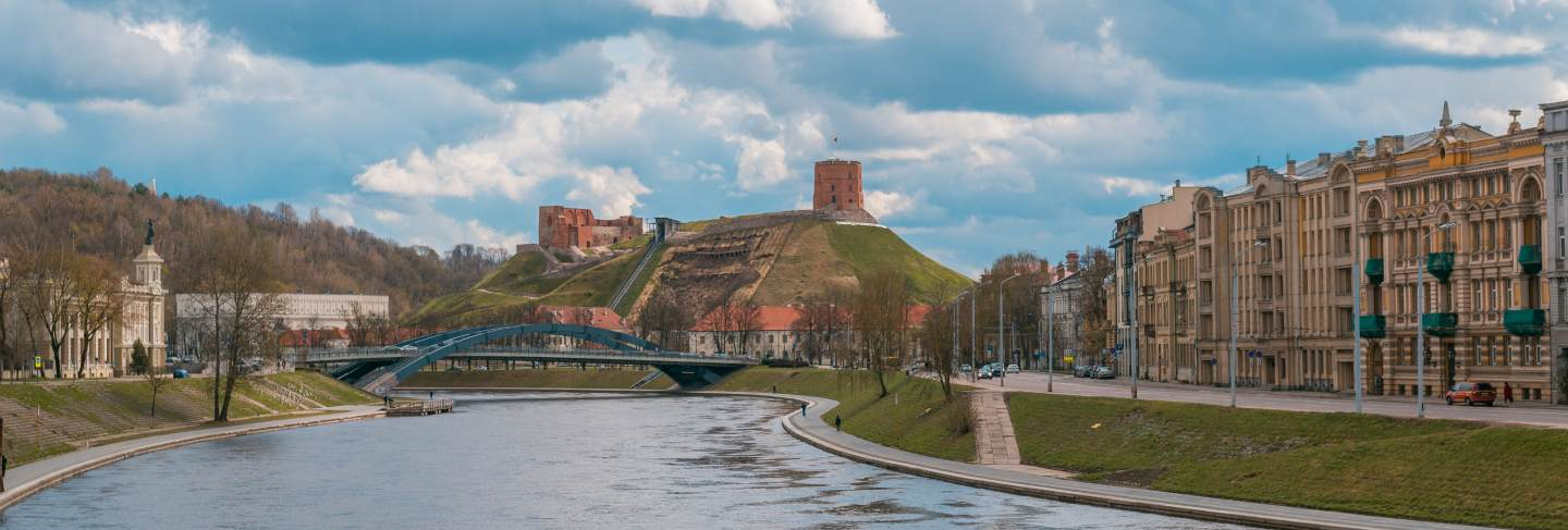 Tower of gediminas in vilnius, lithuania