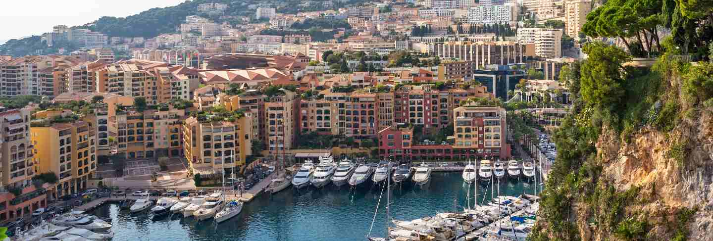 View of monte carlo harbour in monaco