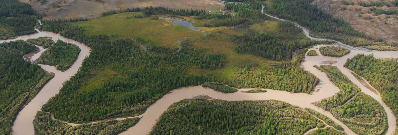 Kurai steppe and chuya river