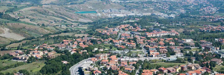 Panorama of republic of san marino