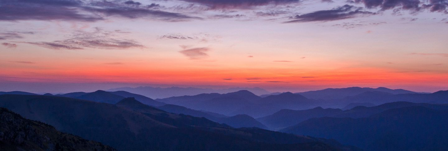 Sunset views from the mountains
