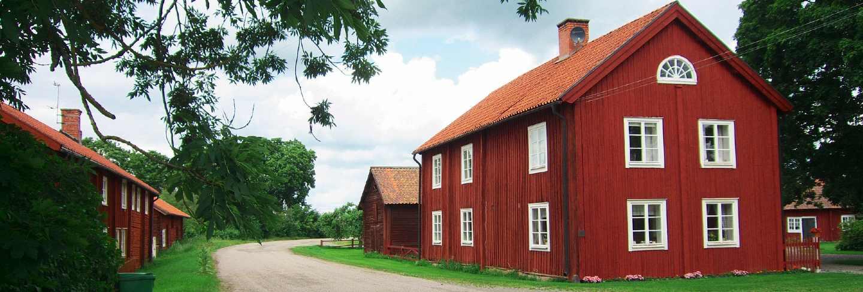 Barn rural sky home clouds farmhouse sweden