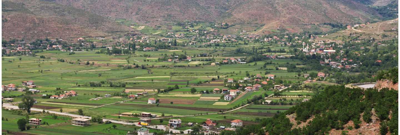 The view on albania mountains