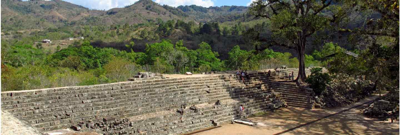 Ancient ruins in copan, honduras
