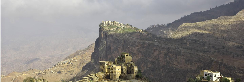 Wadi sara in mountains, yemen