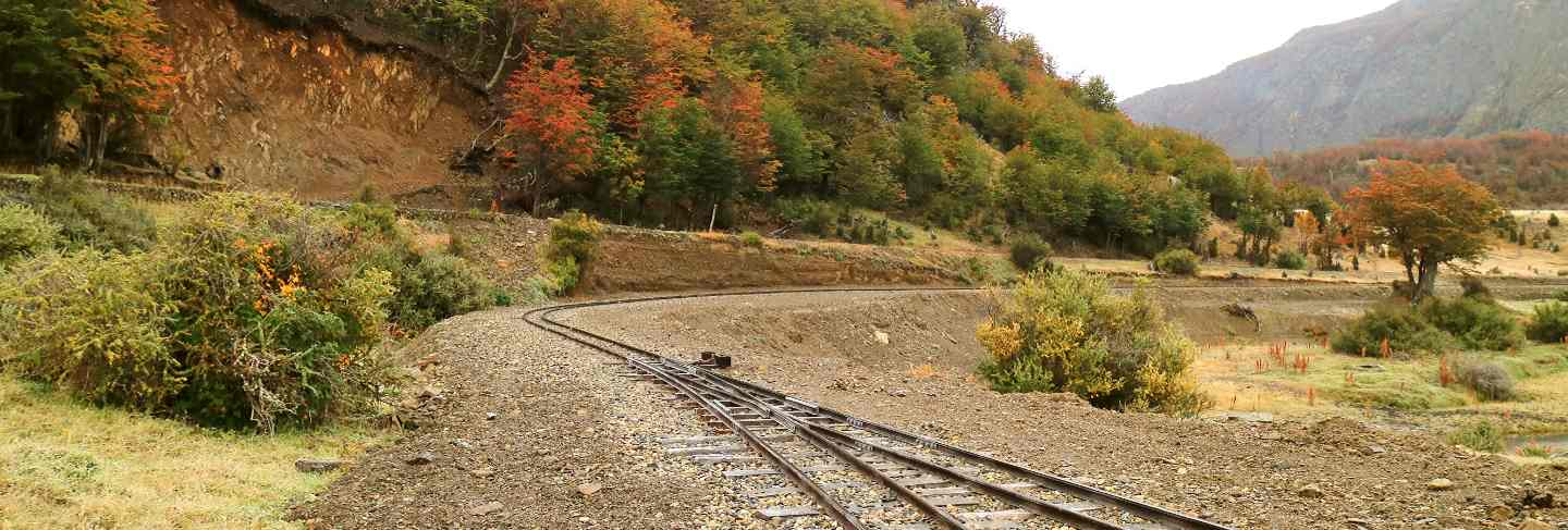 The southernmost functioning railway in the world in tierra del fuego province, argentina