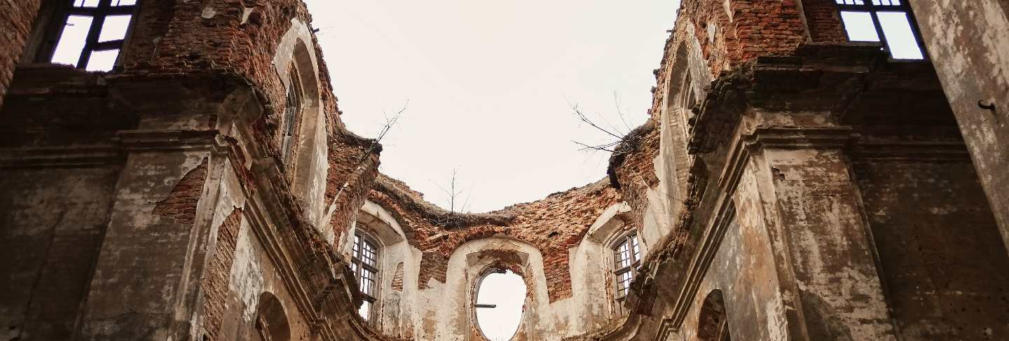 Ruins of an old ruined church