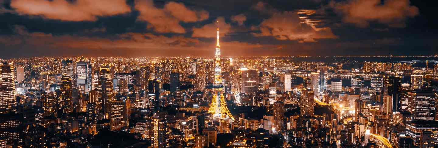 Beautiful architecture and building of tokyo cityscape