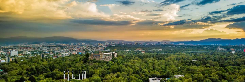 Mexico city - chapultepec panoramic view - sunset