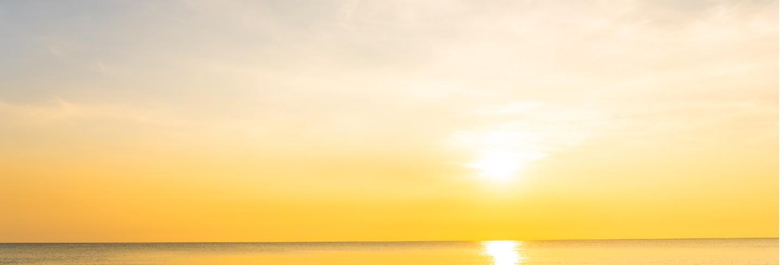 Beautiful tropical nature beach sea ocean at sunset or sunrise