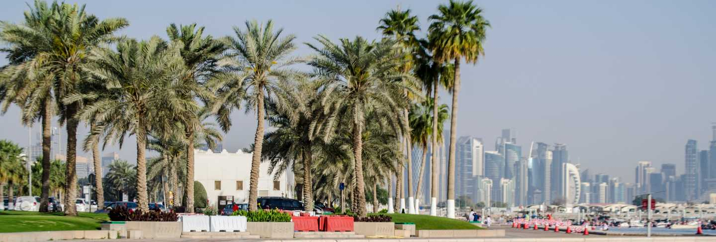 The west bay city skyline on may 25 - 2017 in doha