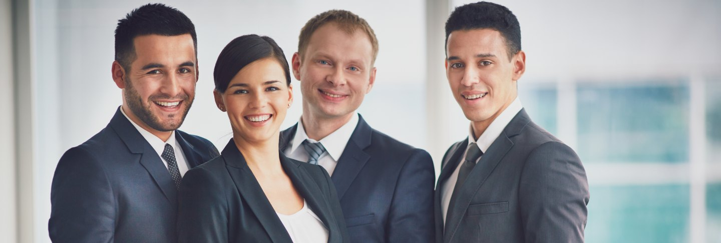 Well-dressed businesspeople in the office