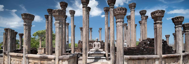 Ruins of medirigiriya vatadage polonnaruwa, sri lanka