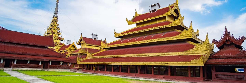 Mandalay palace, located in mandalay, myanmar,