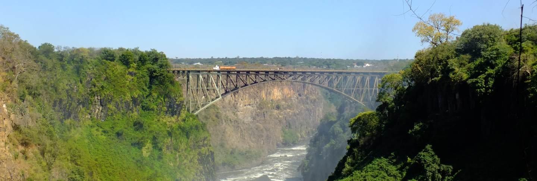 The bridge, victoria falls on the border zambia and zimbabwe