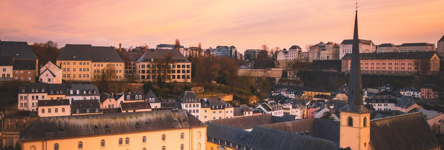 Wonderful view over the old city of luxembourg