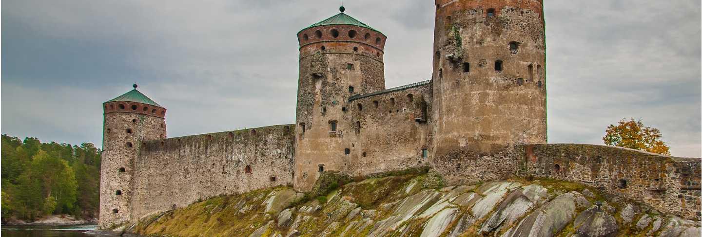Olavinlinna castle in savonlinna finland